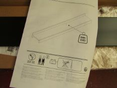 La Redoute Black Metal Shelf. 90cm Long. RRP £25. Boxed with no Damage