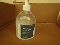 6 x 500ml Hand Sanitisers in Pump Bottles. New.
