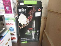 BRAUN -Mixer Minipimer Multiquick 9 mq9045x 1000w + Blender Crusher 4200 - Item Powers On. RRP