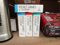 18x OMY- Pocket Games & Colouring - All Good Condition & Boxed.
