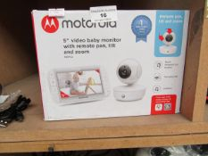 """Motorola - 5"""" Video Baby Monitor with Remote Pan, Tilt & Zoom - Untested & Boxed. RRP CIRCA £160.00."""