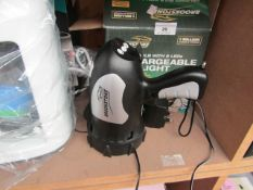 Brookstone - Rechargeable Spotlight with Halogen Bulb & 8 LEDs - Item Has No Power & Boxed.
