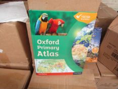 Box of 20 Oxford Primary Atlas Books - All New & Boxed.