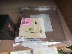 B&Q - Clear iowa Glass Shelf Kit ( H 6 X W 250 X D 250MM) - Packaged.