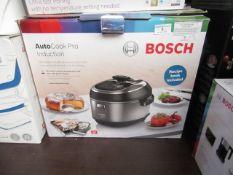 Bosch - Auto Cook Multicooker (MUC88B68GB) - Item Powers On. RRP CIRCA £295.00.