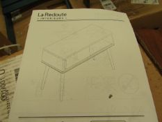 | 1X | LA REDOUTE BEDSIDE UNIT | COMPLETELY UNCHECKED FOR ALL PARTS AND DAMAGE AS FLAT PACKED AND