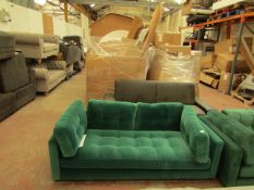 | 1X | SWOON EMERALD GREEN 2 SEATER SOFA | REQUIRES A CLEAN BUT OTHER THAN THAT APPEARS TO BE IN