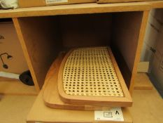 |1X | LA REDOUTE TWIN SHELVES WITH HIDDEN WAL BRACKET | LOOK UNUSED AND BOXED |RRP CIRCA £60 |