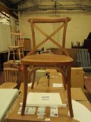 | 2X | LA REDOUTE CEDAK DINING CHAIRS | LOOKS UNUSED AND COMES WITH BOX ONE OF THE CHAIRS IS