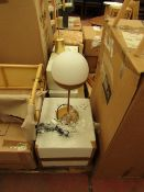 | 1X | LA REDOUTE CHUPA GOLD COLOURED TABLE LAMP WITH GLASS SHADE | LOOKS UNUSED AND COMES WITH