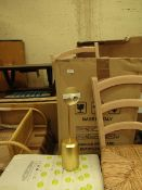 | 1X | LA REDOUTE GOLD COLOURED TABLE LAMP WITH GLASS SHADE | LOOKS UNUSED AND COMES WITH BOXED |