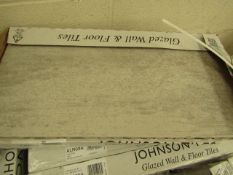 10x Packs of 5 Ashlar Crafted Grey Textured 300x600 wall and Floor Tiles By Johnsons, New, the RRP