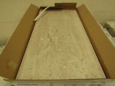 10x Packs of 5 Conglomerate warm Sands Matt Finish 300x600 wall and Floor Tiles By Johnsons, New,