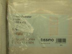 Tissino - Towel Radiator - White 1652x400mm - Boxed.