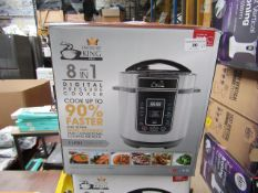 | 3X | PRESSURE KING PRO 8 IN 1 3L DIGITAL PRESSURE COOKER UNTESTED AND BOXED | NO ONLINE RE-