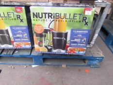 | 2X | NUTRI BULLET RX | UNCHECKED AND BOXED | NO ONLINE RESALE | SKU C5060191461238 | RRP £119.99 |
