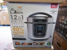 5X | 12 IN 1 DIGITAL PRESSURE COOKER | UNCHECKED AND BOXED | NO ONLINE RE-SALE | RRP £59.99 |