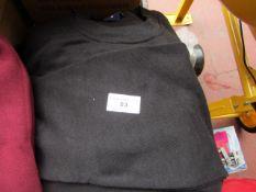5x Unseek Black Jumpers - Size S - New.