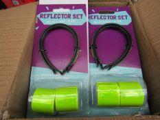 6x 4piece cycle reflector sets, new