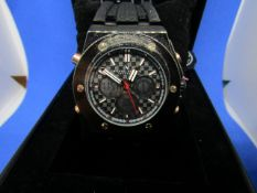 Michael Philippe Innovator watch with rubber strap, new, Boxed and ticking.