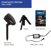   2X   BOX OF 6 STARTASTIC ACTION LASER PROJECTORS WITH 6 LASER MODES   NEW AND BOXED   SKU