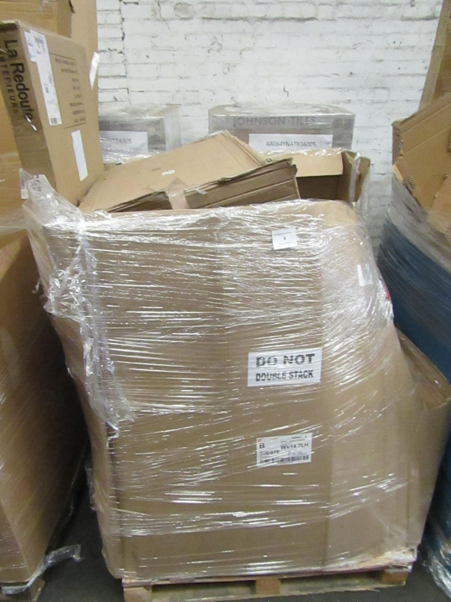   1X   PALLET OF LA REDOUTE B.E.R FURNITURE, UNMANIFESTED, TYPICAL ITEMS INCLUDE SIDE BOARDS AND