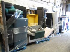 | 13X | PALLETS OF SWOON BER SOFAS, THESE ARE CUSTOMER RETURNS SO COULD HAVE MINOR DAMAGE, MAJOR