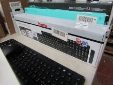 Hama wireless keyboard RF 2200, unchecked and boxed.