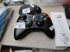 XBOX 360 controller with battery pack, untested.