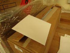 Box of 750 Gummed Bankers Envelopes. 143mm x 143mm. Unused & Boxed (White).
