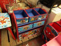 Nickelodeon - Paw Patrol - Metal Toy Storage Organizer - Unchecked & Boxed.