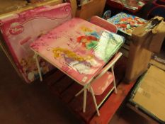 Disney Princess - Folding Table & Chairs(3-6 Years) - Unchecked & Boxed.