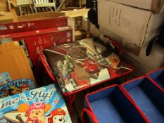 Disney - Cars - Folding Table & Chairs Set - Good Condition & Look Complete.
