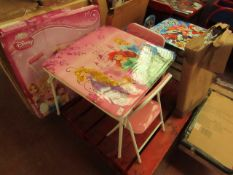 Disney Princess - Folding Table & Chairs(3-6 Years) - Very Good Condition & Looks Complete box.