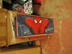 Spider-Man - Metal Toy Storage Organizer - Box Unchecked but looks Complete.