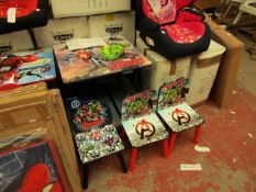 Marvel - Avengers - Folding Table & Chairs - Looks Complete & Good condition. - Note This Lot has