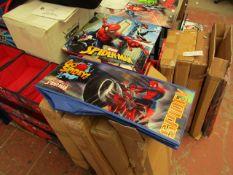 Spider-Man - Wooden Toy Storage Organizer - Box Unchecked but looks Complete.
