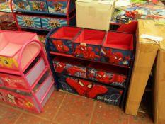 Spider-Man - Wooden Toy Storage Organizer - Looks Complete.