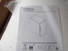La Redoute Black/Wood Drawers. Boxed but unchecked
