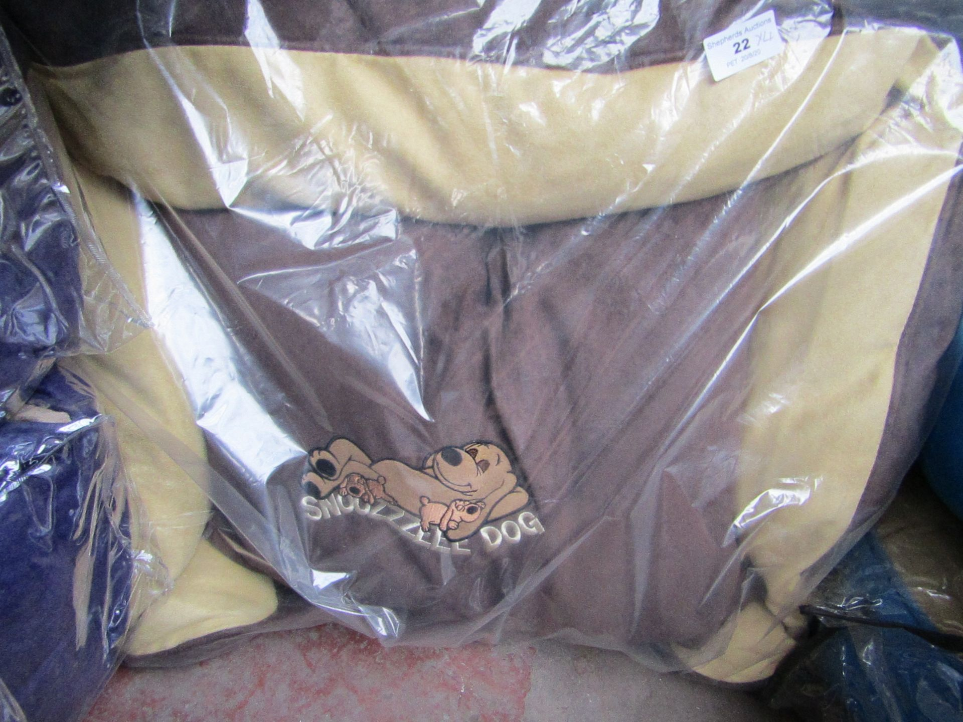 "4x Snoozzzeee Dog - Brown Sofa Dog Bed (23"") - All New & Packaged."