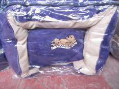 "5x Snoozzzeee Dog - Purple Sofa Dog Bed (23"") - All New & Packaged."