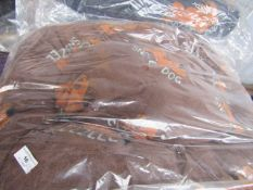 2x Snoozzzeee Dog - Fleece Lounger Dog Bed Brown (70 x 100cm) - All New & Packaged.
