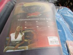 "2x Snoozzzee Dog - Oval Purple Dog Bed (32"") - All New & Packaged."