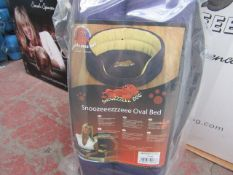 "5x Snoozzzeee Dog - Oval Purple Dog Bed (27"") - All New & Packaged."