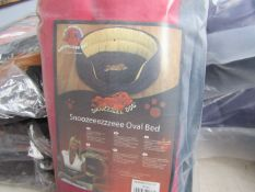 "3x Snoozzzeee Dog - Oval Cherry Red Dog Bed (32"") - All New & Packaged."