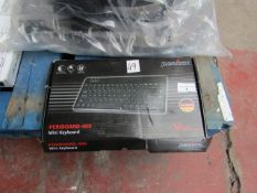 Perixx Periboard 409 mini keyboard with trackball built in, unchecked and boxed