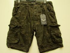 Brave Soul Mens Camo Cargo Shorts size M new with tag see image