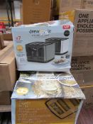 | 3X | DREW AND COLE 4 SLICE TOASTERS | UNCHECKED AND BOXED | NO ONLINE RESALE | SKU