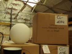 | 1X | LUNA LAMP DESIGNED BY ALEXANDER LERVIK | LOOKS UNUSED (NO GUARANTEE), BOXED | RRP £156.90 |