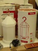 | 1X | FATBOY LAMPIE-ON RECHARGEABLE LANTERN STYLE LIGHT WITH INTERCHANGABLE DECORATIVE SLEEVES |